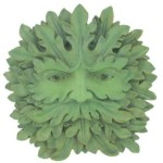 Majesty Green Man Wall Plaque is very majestic and his face is emerging from the leaves