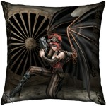 The Assassin cushion shows a steampunk angel