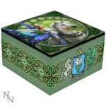The Realm of Enchantment mirror box shows a fairy with a dragon and unicorn in a forest