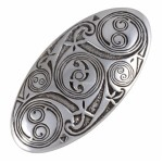 Lindisfarne Spirals Oval Hairclip