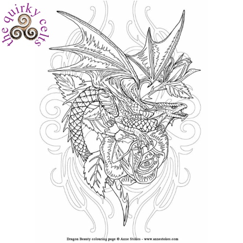 Anne Stokes Fantasy Art Colouring Book Fantasy Colouring