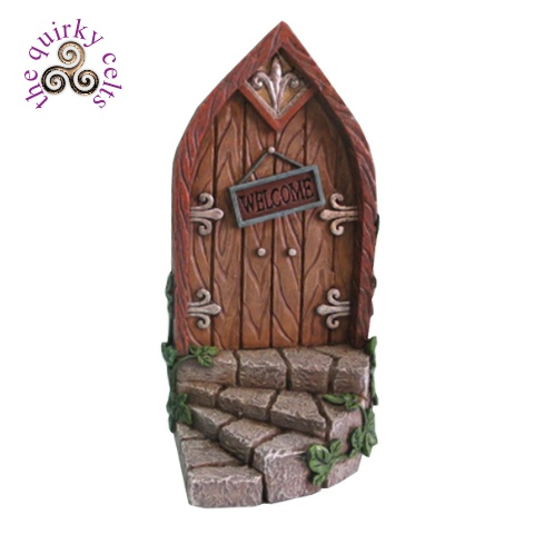 Fairy door with steps and brown door the quirky celts for Fairy doors images