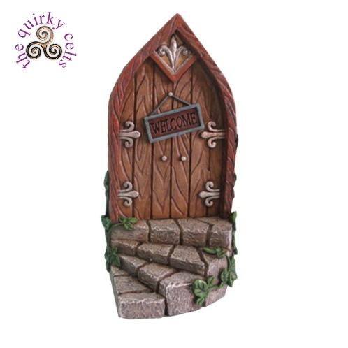 Fairy door with steps and brown door the quirky celts for My fairy door uk