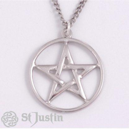 Pentagram Circle Pendant from St Justin