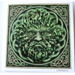 Green Man Card shows a Green Man emerging from the greenery with Celtic knotwork in the background