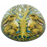 Mystic Hares Paperweight