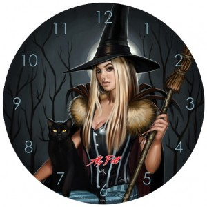 Winter Witch Clock