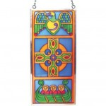 IC-CL-0072-30 Celtic Stained Glass Travel Cross