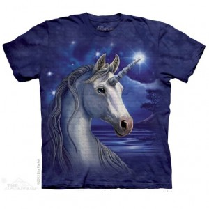 Unicorn Night (Sacred One) T Shirt shows a magnificent and magical unicorn