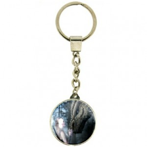 Once upon a Time keyring shows a dragon and a beautiful young maiden