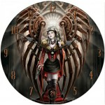 Avenger Clock by Anne Stokes featuring a steampunk angel