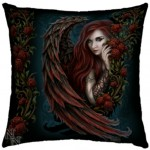 Daemon in Rosa Cushion