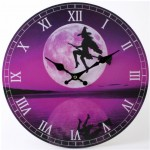 SDW-CL42612 Purple Witch Clock