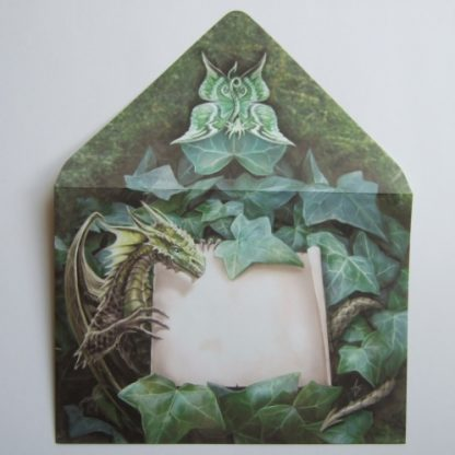 Dragon and ivy envelope