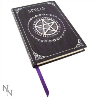 Purple Spell Book Embossed Journal by Luna Lakota