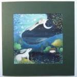 Moon Dream Card by Amanda Clark