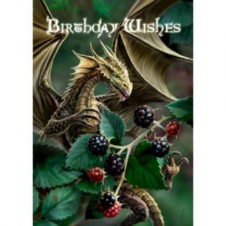 Blackberry Dragon Birthday Card