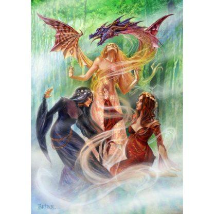 Triple Goddess Summoning the Earth Dragon Card