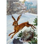 Midwinter Rune Hare Yule Card