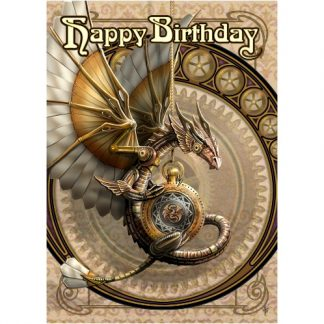 Clockwork Dragon Birthday Card