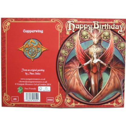 Copperwing Birthday Card wrap