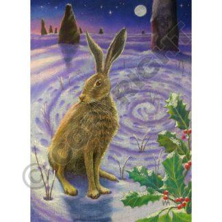 Winter Solstice Spiral Card