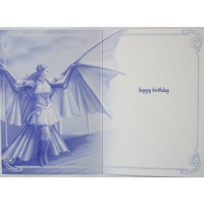 inside Clockwork Dragon Birthday Card