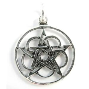 Celtic Pentacle Silver Pendant