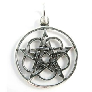 Celtic Pentacle Silver Pendant
