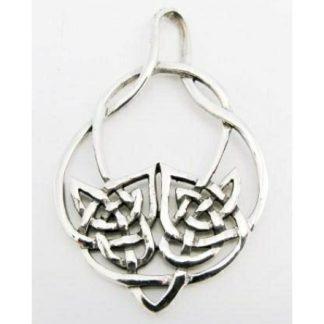 Celtic Double Knot Circlet Silver Pendant