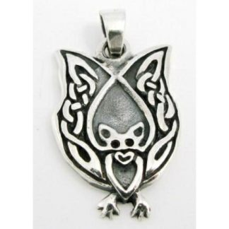 Celtic Bat Silver Pendant