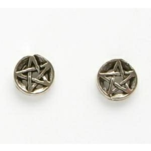 Pentacle Small Silver Studs