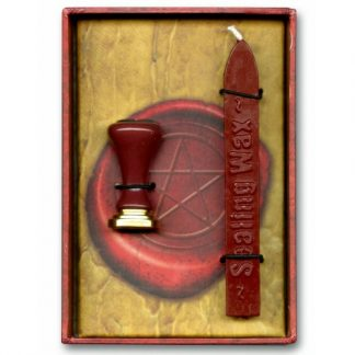 Pentacle Wax Seal with a pentagram seal and red sealing waz