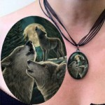 Wolf Song Picture Pendant