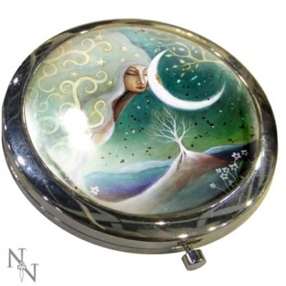Earth and Moon Compact Mirror