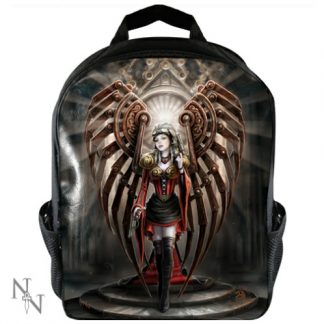 The Avenger Rucksack shows an avenging angel with steampunk mechanical wings