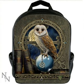 The Spell Keeper Rucksack shows an owl with a crystal ball and pentacle