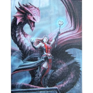 Scarlet Mage Canvas Wall Plaque