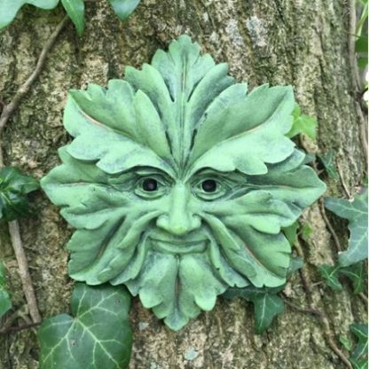 Green Man Star Plaque outside