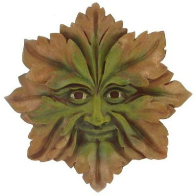 Green Man Star Plaque the leaves around his face form a star shape