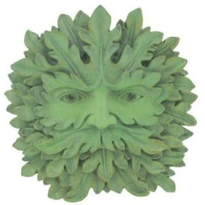 Majesty Green Man Plaque is very majestic and his face is emerging from the leaves