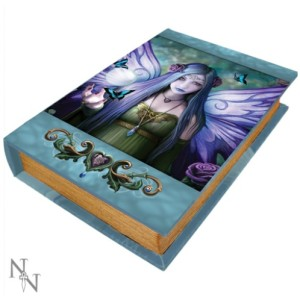 Mystic Aura Book Box shows a purple winged fairy with a crystal ball and butterflies