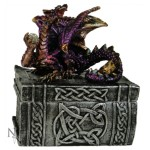 Wisdom Dragon Box has a dragon sitting on a book as a lid and a celtic book as a base