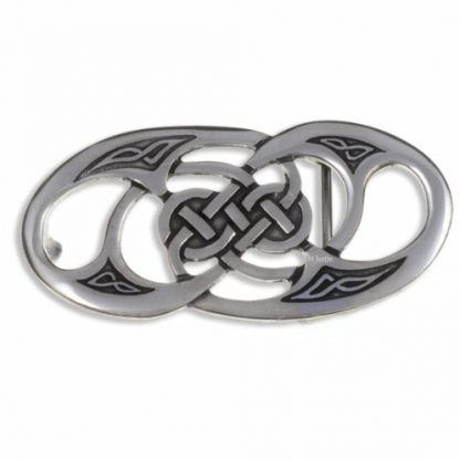 Twisted Loop Belt Buckle features celtic knotwork and loops