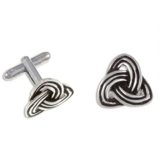 Trefoil Knot Cuff Links have a triple-banded design