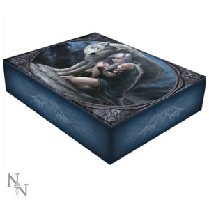 Protector Jewellery Box shows a girl and a wolf