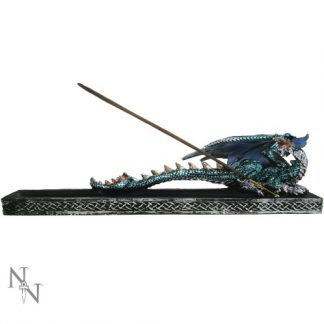 Incense Guardian has a silver, gold and aqua dragon