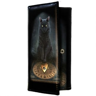 His Master's Voice Purse shows a black cat sitting in front of a ouija board