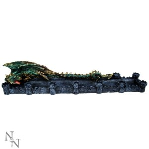 Dragon Castle Incense Holder shows a dragon and a castle