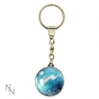 Moonlight Keyring shows a hare in mid-leap